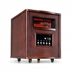 Klarstein Heatbox, infravörös hősugárzó, 1500 W, 12 órás időzítő, távirányító, sötét diófa