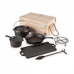 Klarstein Hotrod Masterplan öntöttvas edénykészlet, 7 részes, barbecue szett, öntöttvas