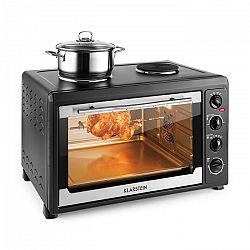 Klarstein Masterchef 60 mini sütő, 2500 W + 1600 W, 60 liter, rozsdamentes acél, fekete