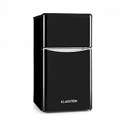 Klarstein Monroe Black, hűtőszekrény fagyasztóval, 61/24 l, A+, retro dizájn, fekete