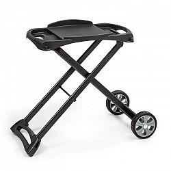 Klarstein Parforce Stand, grillező állvány, tartozék, PE kerekek, összecsukható, fekete