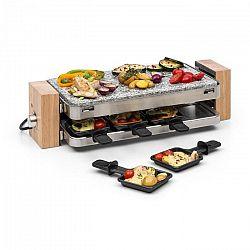 Klarstein Prime-Rib, raclette grillező, 1500 W, természetes kőlemez, nemesacél konstrukció