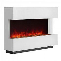 Klarstein Studio-1, fehér, elektromos kandalló, lángok LED-es szimulációja, 750/1500 W, 40 m²