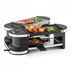 Klarstein Tenderloin, mini raclette grillsütő, 600 W, 360°-os alaprész, forró kő