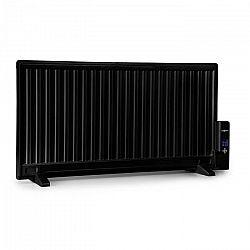 OneConcept Wallander, olajradiátor, 1000 W, termosztát, fűtés olajjal, lapos design, fekete