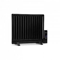 OneConcept Wallander, olajradiátor, 600 W, termosztát, fűtés olajjal, lapos design, fekete