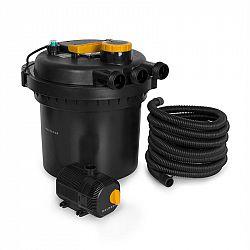 Waldbeck Aquaklar, nyomásszűrő szett kerti tóba, 11W UV-C tisztító, 35W pumpa, 5 m tömlő