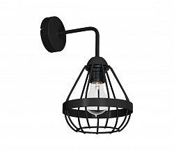 Decoland Fali lámpa RING 1xE27/60W/230V fekete
