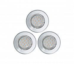 KÉSZLET 3x LED mennyezeti lámpa IGOA 3xGU10/3W/230V fényes króm