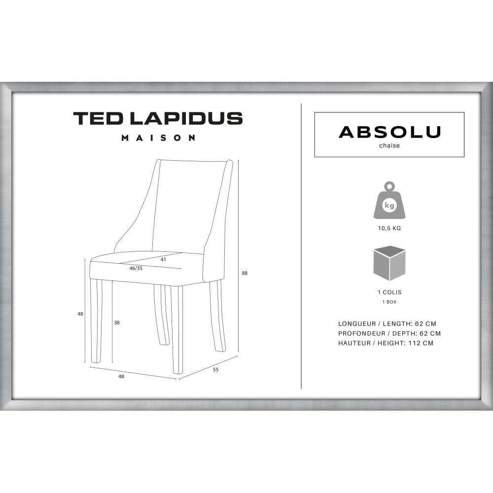 Absolu fekete bükk szék fekete lábakkal Ted Lapidus Maison