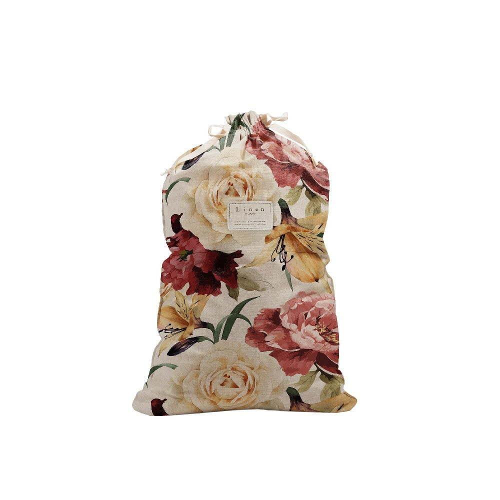 Bag Roses szövet szennyestartó zsák, magasság 75 cm - Linen