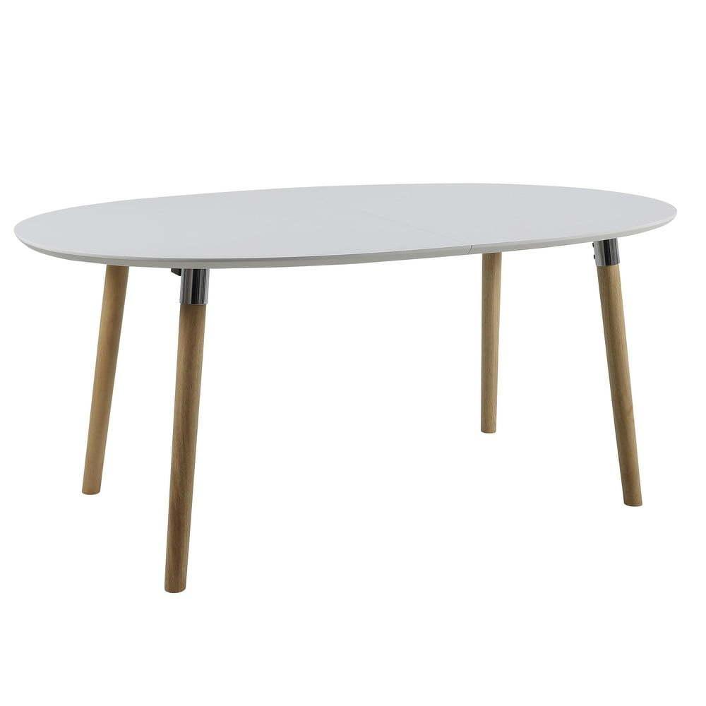Round fehér-barna étkezőasztal, ⌀ cm - WOOD AND VISION   Bonami