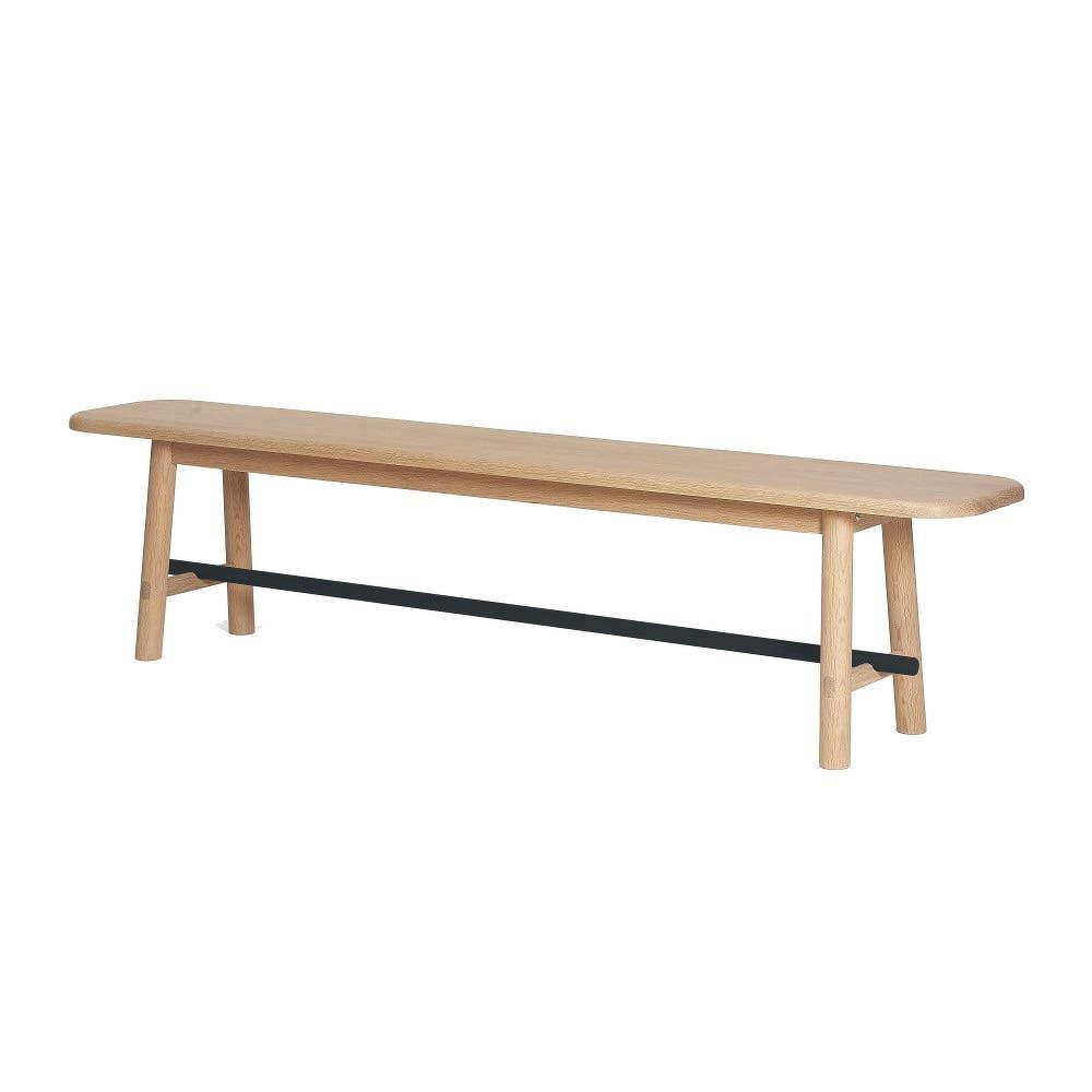 Hector tölgyfa ülőpad szürke merevítőrúddal - HARTÔ