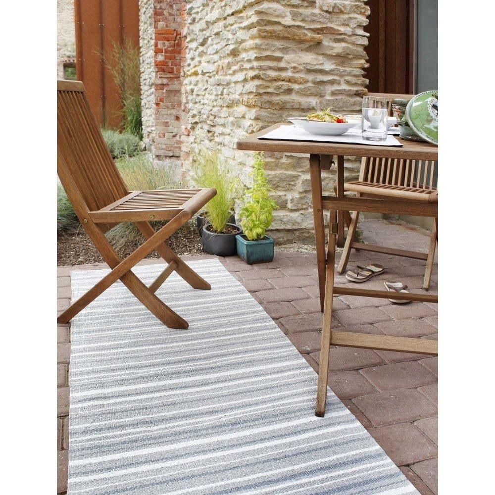 Hullo szürke-fehér bel-/kültéri szőnyeg, 70 x 100 cm - Narma