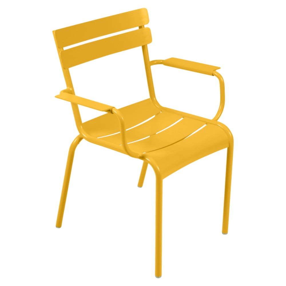 Luxembourg sárga karfás kerti szék Fermob