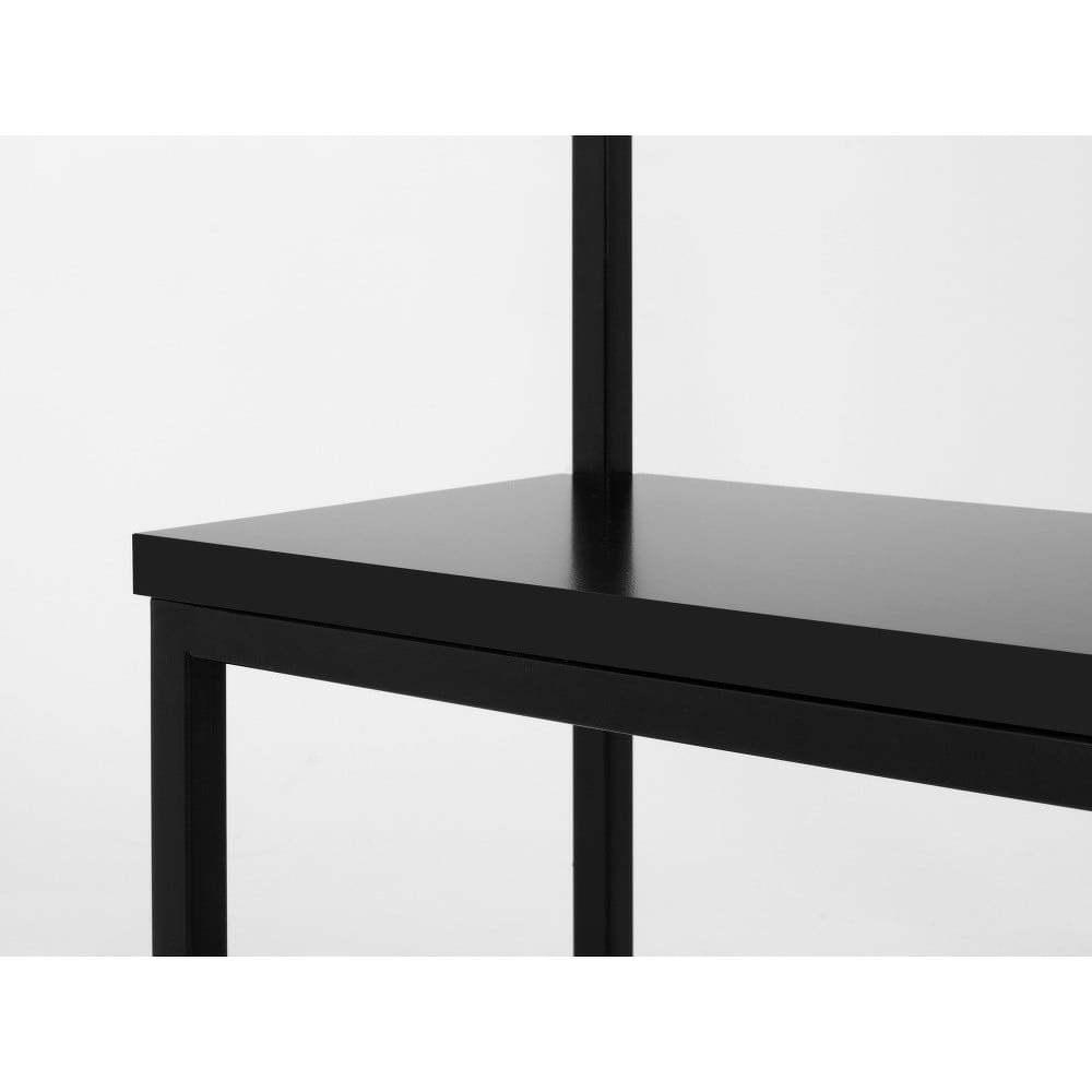 Next fekete előszobafogas fekete paddal, szélesség 120 cm - Custom Form