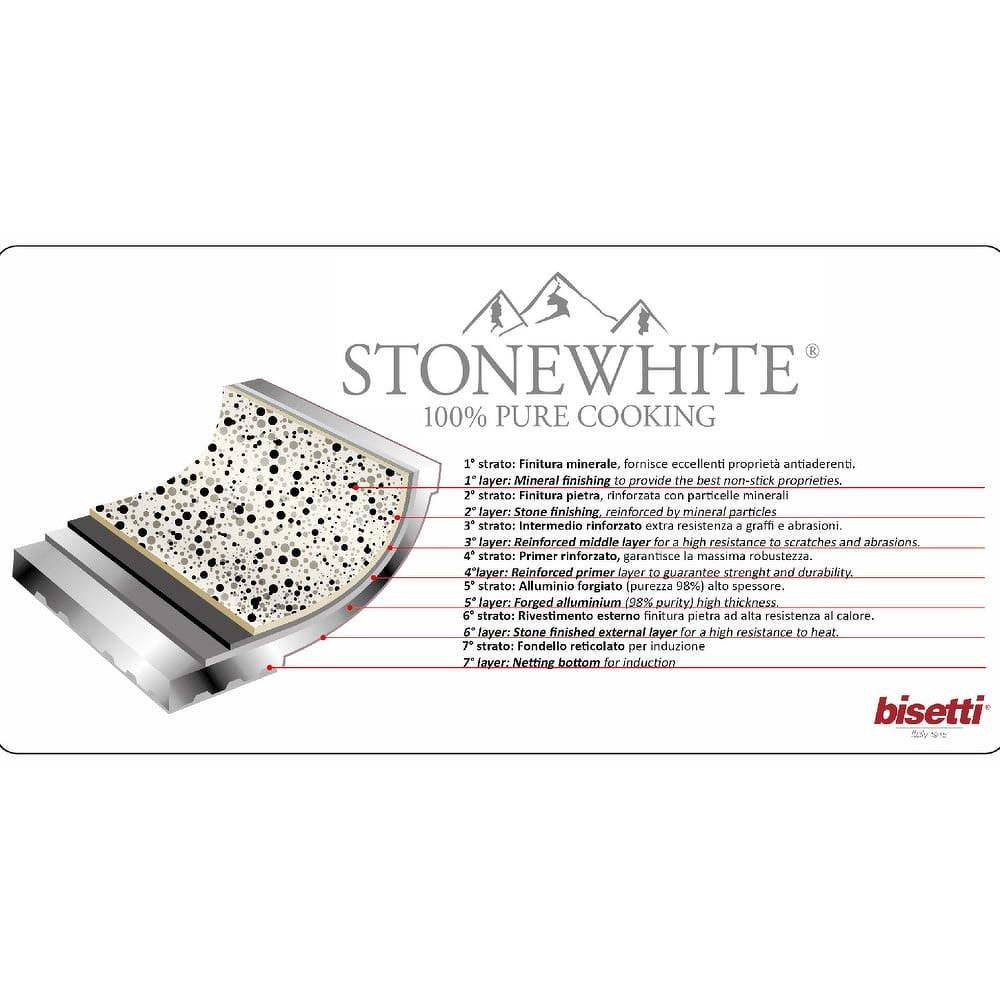 Stonewhite Valentina 8 darabos edénykészlet fedővel - Bisetti