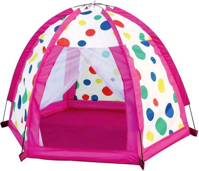 Színes pöttyös sátor