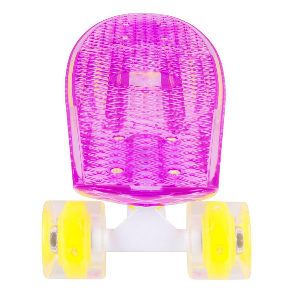 Műanyag gördeszka világító kerekekkel WORKER Transpy 300 22