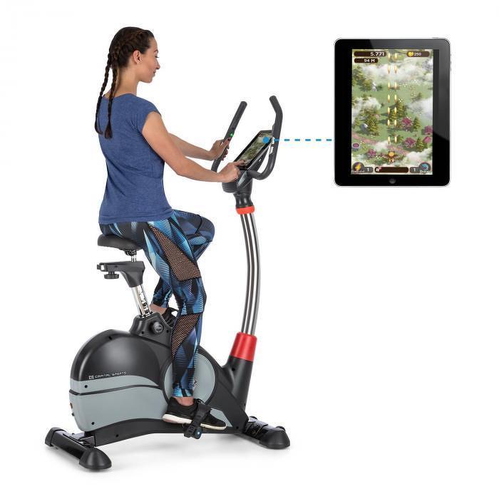 Capital Sports Arcadion Gaming Bike szobabicikli, pulzusmérő, Bluetooth, tartó a kormányon, fekete