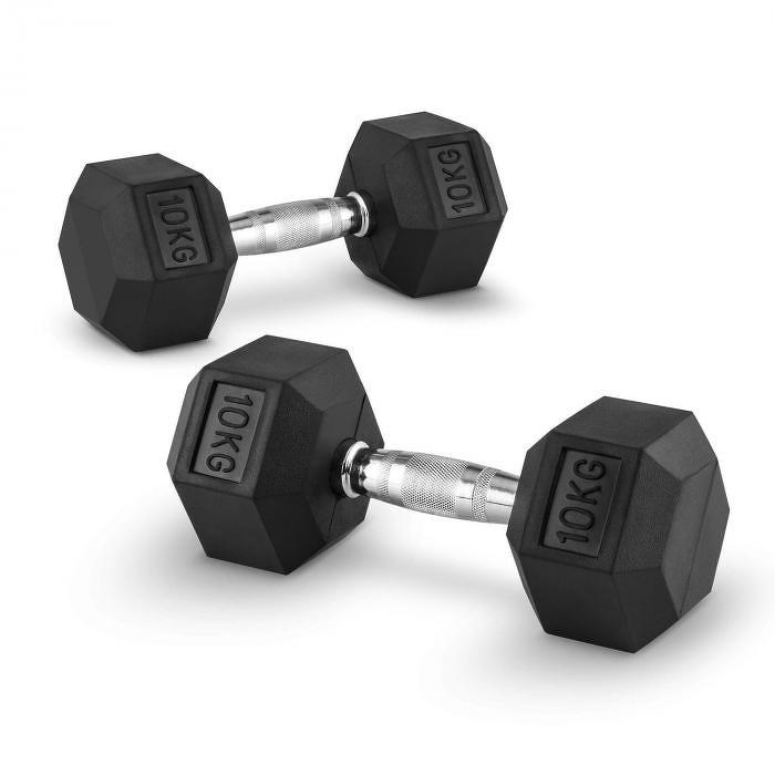 Capital Sports Hexbell 10, 10kg, kézisúlyzó pár (dumbbell)