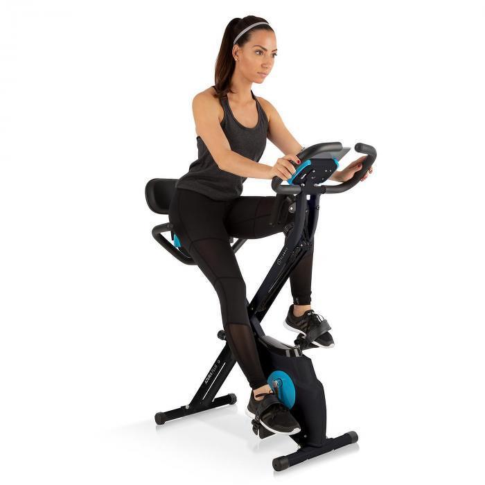 Klarfit Azura Plus 3-in-1, otthoni tréner, rugalmas húzókötelek, szíjmeghajtás, fekete