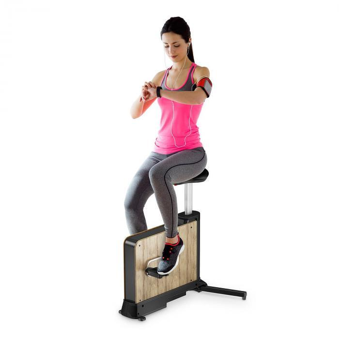 Klarfit Roomik Move, szobakerékpár, nyírfa, 8 kg-os lendkerék, 8 szintű mágneses ellenállás