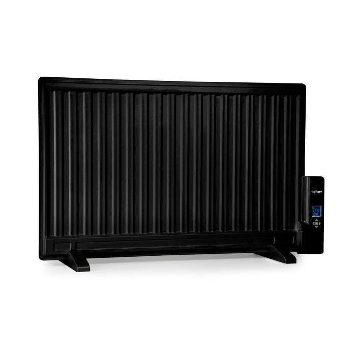 OneConcept Wallander, olajradiátor, 800 W, termosztát, fűtés olajjal, ultra lapos design, fekete