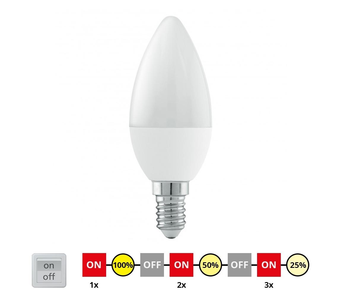 Eglo EGLO 11581 - LED Szabályozható izzó E14/6W/230V - STEPDIMMING meleg fehér
